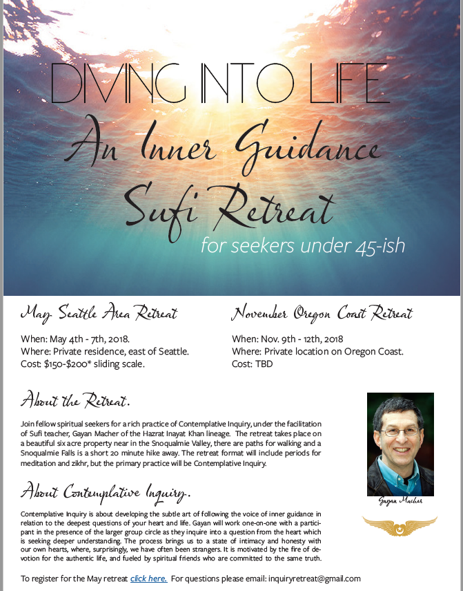 Inner Guidance Sufi Retreat @ private residence | Seattle | Washington | United States