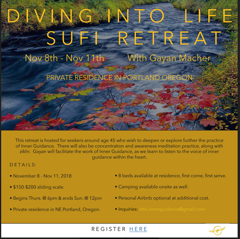 An Inner Guidance Retreat In the Tradition of the Inayati Order @ Private Residence | Portland | Oregon | United States